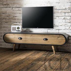 Achetez votre Meuble TV industriel en bois et finition métallique de qualité sur CDC Design. Payez en 3x ou 4x sans frais ! Livraison gratuite dès 750€ d´achat.