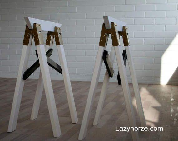 Lazyhorze Table Trestles 72 Cm High Faire Une Table Plan De Travail Et A Table