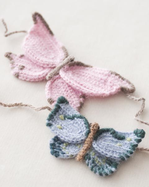 Knitted butterflies (inspiration) knitting Pinterest Wool, Yarns and Pa...