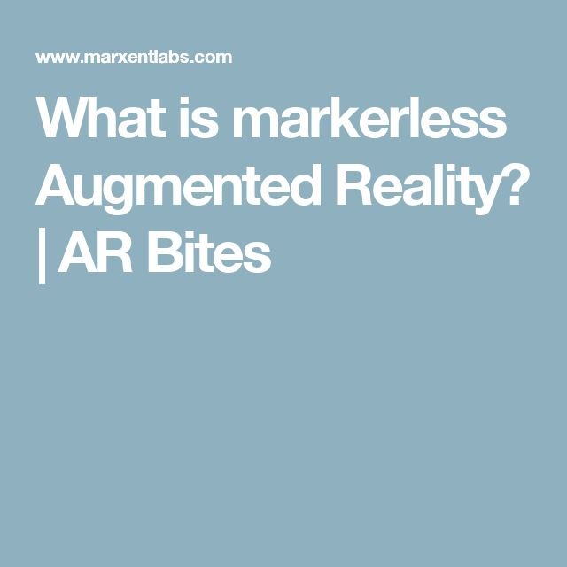 What is markerless Augmented Reality? | AR Bites