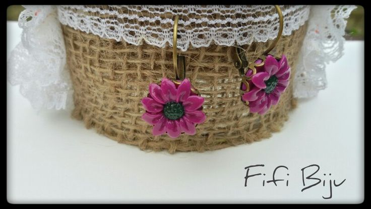 ~Purple earrings~