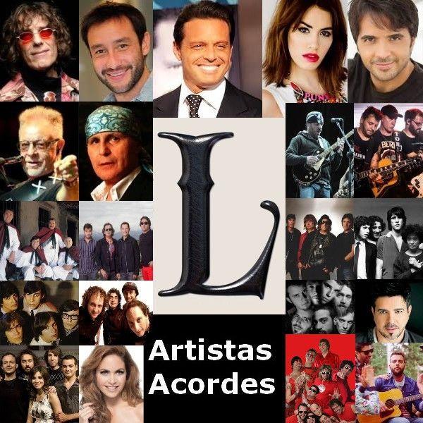 Artistas con L (Lista) Canciones con letras y acordes de guitarra y piano