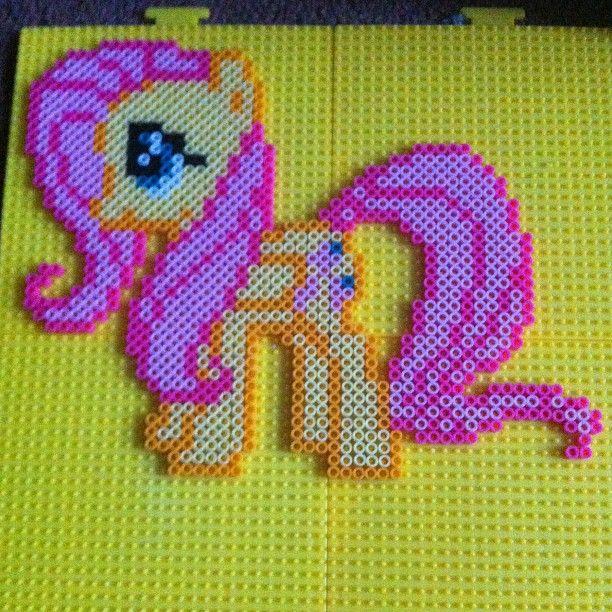 MLP Fluttershy perler beads by glooperdootle