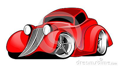 Red Hot Rod Cartoon Illustration by Jeffrey Hobrath, via Dreamstime