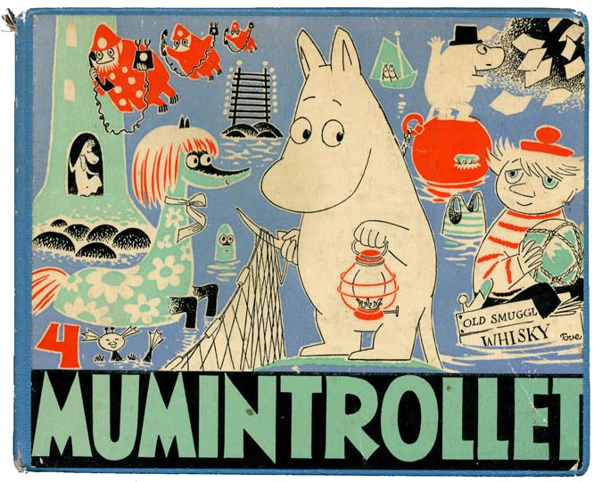 Tove Jansson, picture book series Mumintrollet, Moomin trolls, 4/1958-21/1974. © Tove & Lars Jansson. More to see & read: oweiss.com.