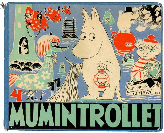 Mumintrollet (Les Aventures de Moomin), BDs de Tove Jansson (Suède/Finlande), traduites en français pour la 1ère fois en 2007 pour Le Lézard noir. Lecteurs : enfants dès 8 ans/adultes, 1950-1980.