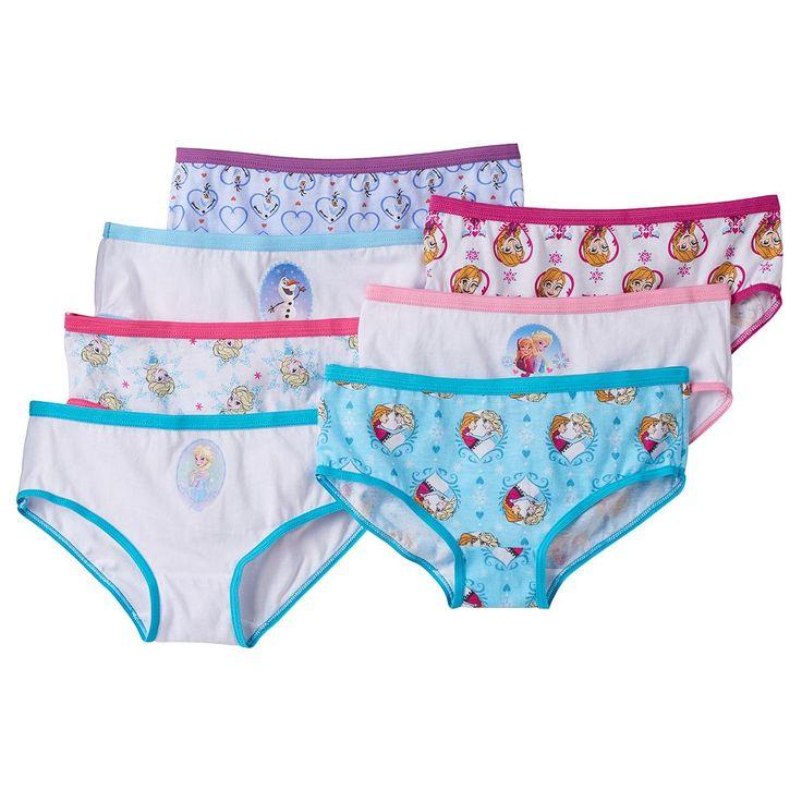 Disney Frozen Girls 7-pk. Hipster Underwear, Size: 8, Blue
