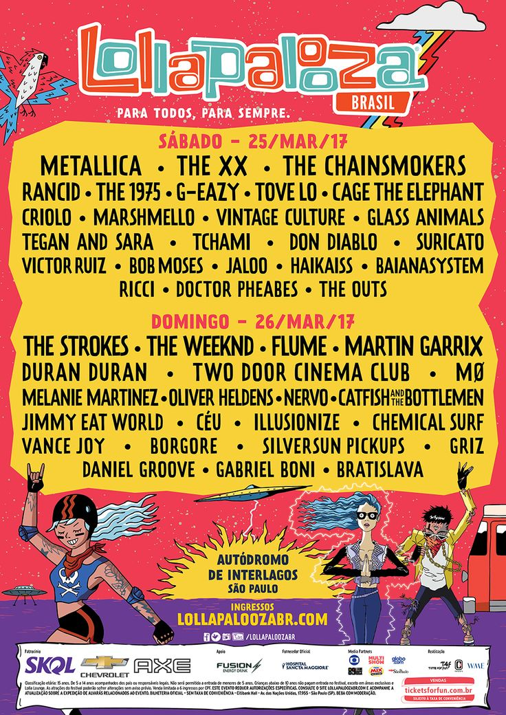 Lineup – Lollapalooza Brasil