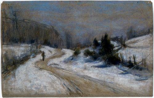 """Marc-Aurèle de Foy Suzor-Côté - """"Dégel en avril"""", 1909"""