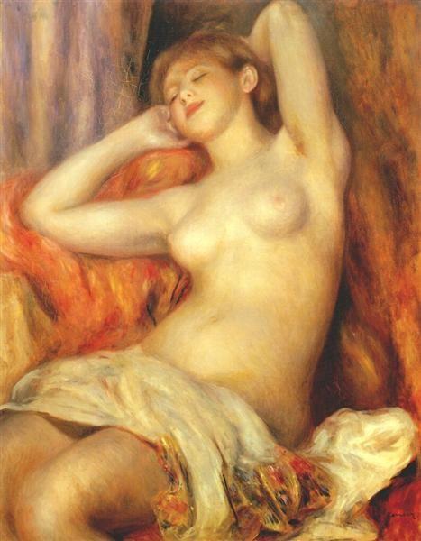 Sleeping woman - Renoir Pierre-Auguste