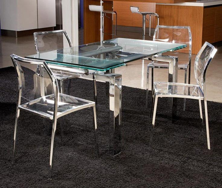 Les 25 meilleures id es concernant chaise transparente sur pinterest chaise - Table a manger transparente ...