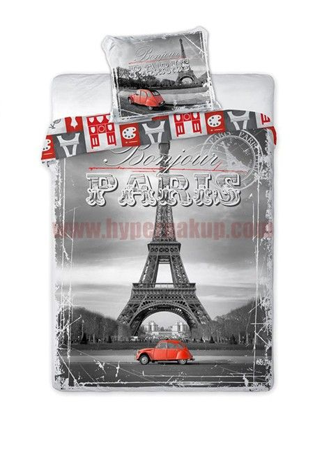 Bavlnené obliečky Paríž 1+1