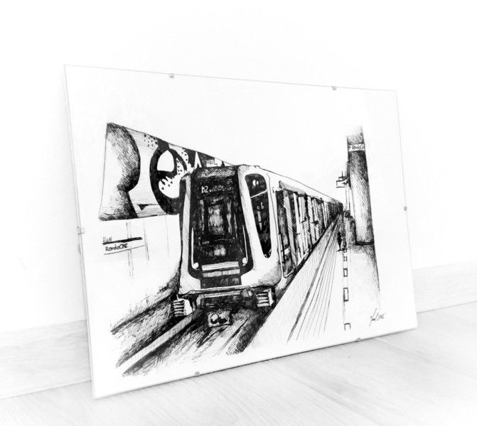 GRAFIKA METRO WARSZAWA w HOMEart na DaWanda.com