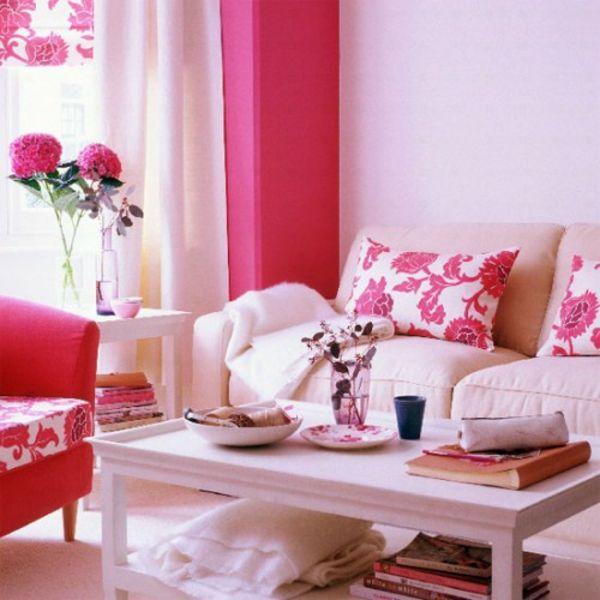 zartliche rosa shabby chic wohnzimmer - Wohnzimmer Shabby Chic Modern