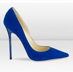 Online Shop jc shoes royal blue pumps royal blue high heels Genuine leather women fashion sexy wedding suede shoes free shipping EU 34-41|Aliexpress Mobile