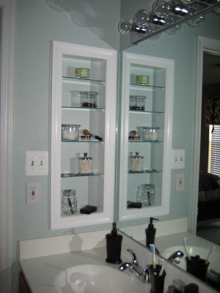 Girl meets home diy medicine cabinet bathroom pinterest - Built in medicine cabinets in bathroom ...