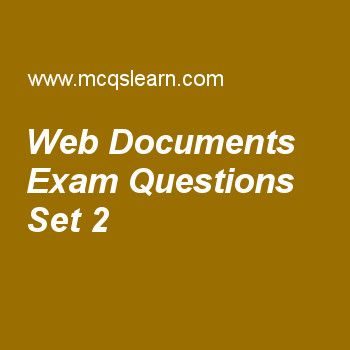Practice test on web documents, computer networks quiz 2 online. Practice networking exam's questions and answers to learn web documents test with answers. Practice online quiz to test knowledge on web documents, ipv4 connectivity, network address, periodic analog signals, ieee 802.11 frames worksheets. Free web documents test has multiple choice questions as to let client know about type of document sent, a cgi program creates, answers key with choices as body, header, borders and...