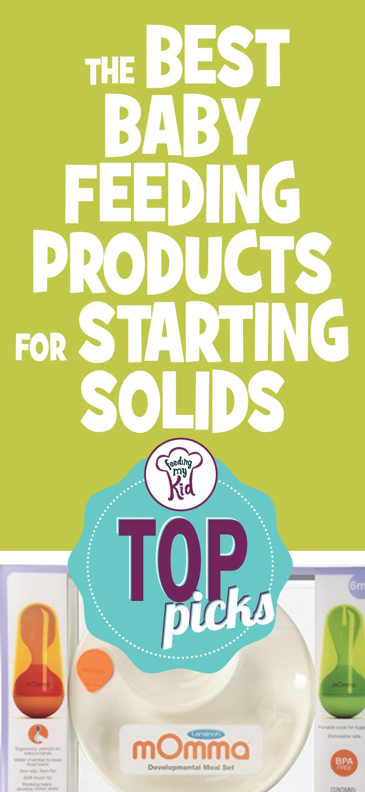 Top Picks: The Best Baby Feeding Products For Starting Solids - This is a must Pin! From flap gerber cereal rice to a munchkin fresh food feeder; these products are here to help you feed your kid. This is a must pin! #fmk #feedingsolids #introducingsolids #babyfeeding