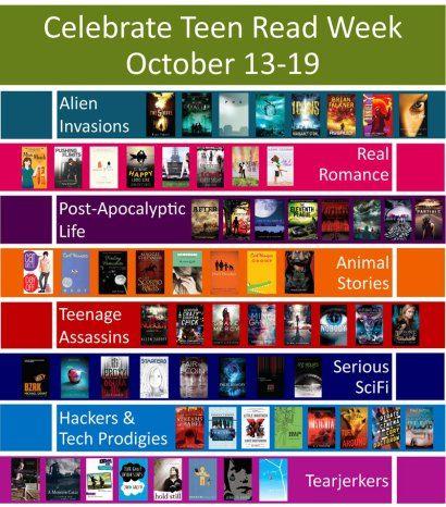Teen Read Week Display/ Readers Advisory Poster