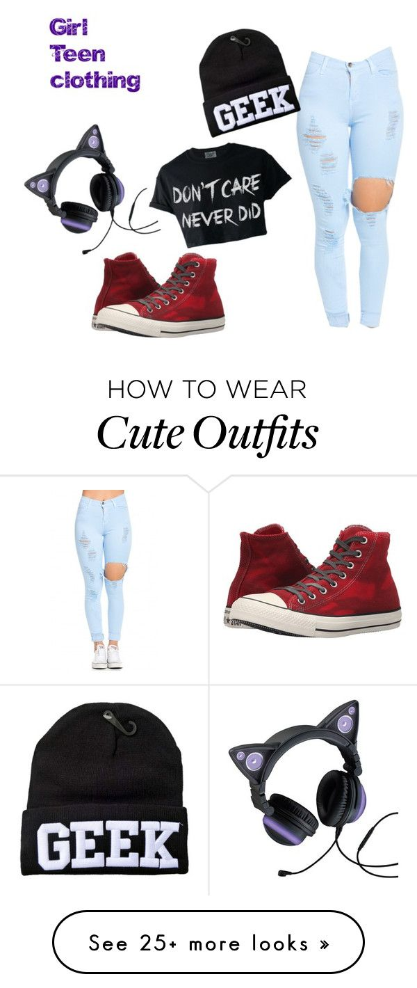 """Teenage girl outfit"" by chaotic-karma on Polyvore featuring Converse"