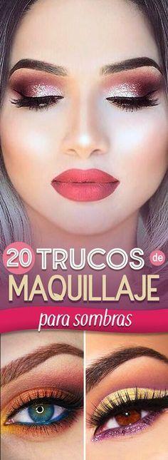 20 Trucos de maquillaje para lograr unas sombras envidiables. ¡Especial para las amantes del color!
