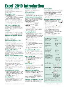 Microsoft Excel 2010 Introduction Quick Reference Guide (Cheat Sheet of Instructions, Tips & Shortcuts - Laminated Card) Get my FREE mini course here!