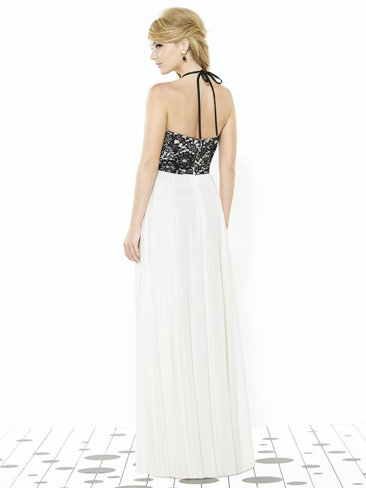 danica gown #ivory #black #bridesmaid