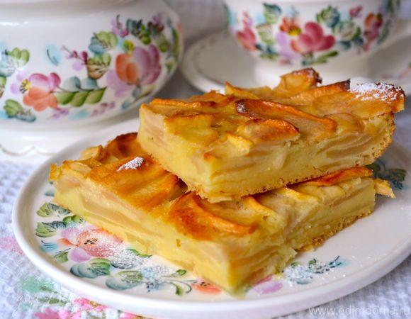 У меня уже был рецепт Французского Яблочного Пирога... (http://www.edimdoma.ru/retsepty/56189-frantsuzskiy-yablochnyy-pirog) Это совсем другой вариант яблочной выпечки, взятый мною с одного францу...