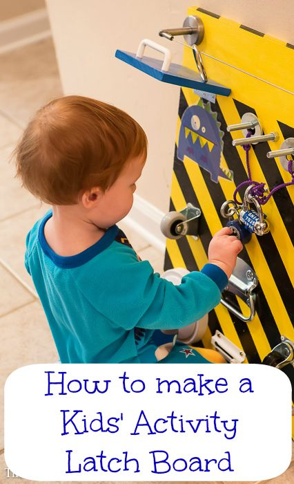 How to make a Kids Activity Latch Board