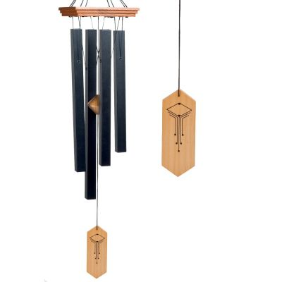 Craftsman Wind Chime, Medium, Black - Woodstock Chimes
