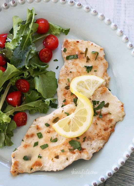 Chicken Francese, Lightened Up -  Move over Olive Garden, this one's lighter and easy to make! #weightwatchers #dinner