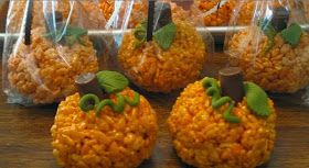 Now You Can Pin It!: Rice Crispy Pumpkins 2