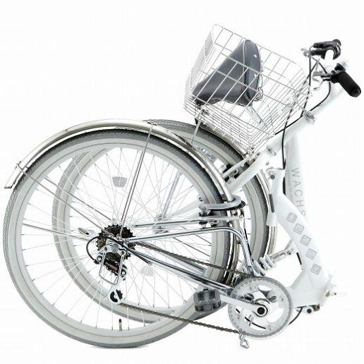 【楽天市場】【送料無料】 自転車 26インチ 折りたたみWACHSEN ヴァクセン スチールフレームシティサイクル 清潔感 サークルロックスポーティ 6段変速 快適 爽やか オシャレホワイト/グレー Wolke ヴォルケ 送料込 (T4)(S) 02P12Oct15:Shop405