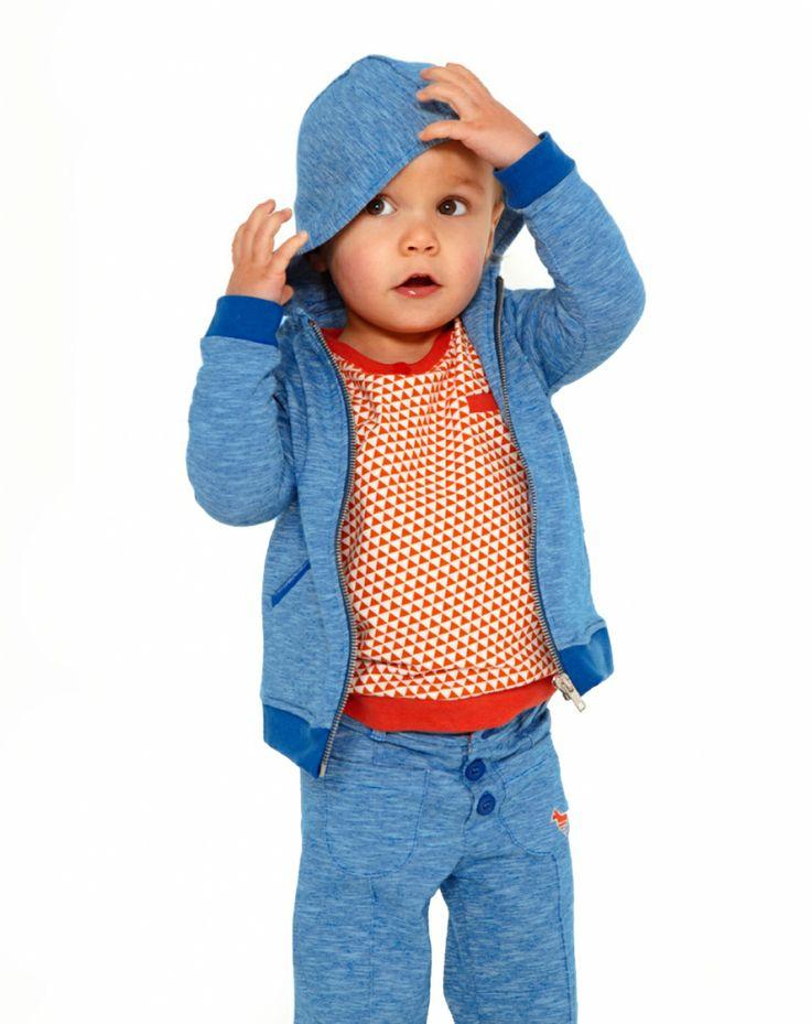 Broek Gilin blauw Kind Dis Une Couleur Broek Meisje - Minifox - Online store - webwinkel van originele, kwaliteitsvolle designer baby- en kinderkleding