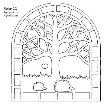 Les hérissons; tree w/hedgehogs
