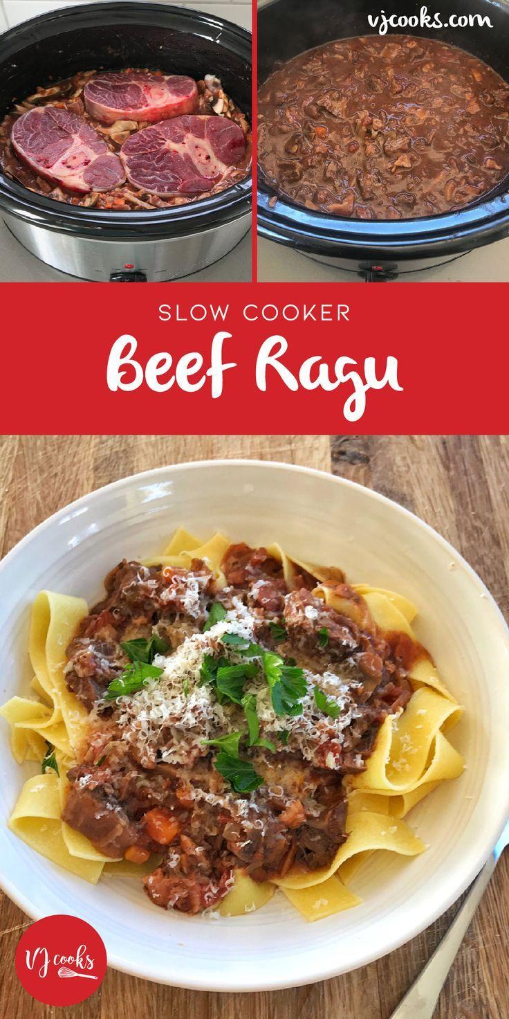 Slow Cooker Beef Ragu Easy Recipe From Vj Cooks In 2020 Slow Cooker Recipes Beef Beef Ragu Slow Cooker Ragu Recipe