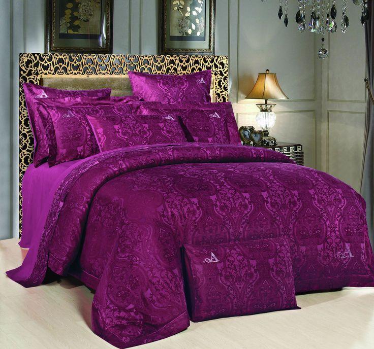 фиолетовое пастельное бельё в дизайне спальни (purple linens)
