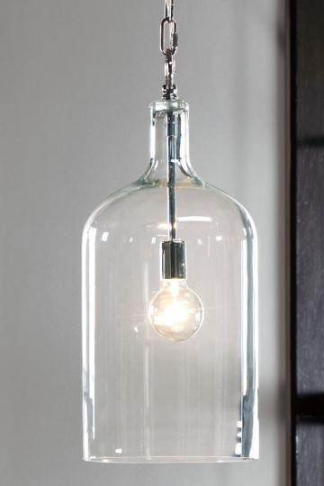 #bottle #glass #pendant #light #fixture