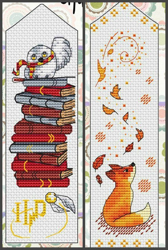 15 Bookmark Cross Stitch Pattern Pdf Instant Download Book Cross