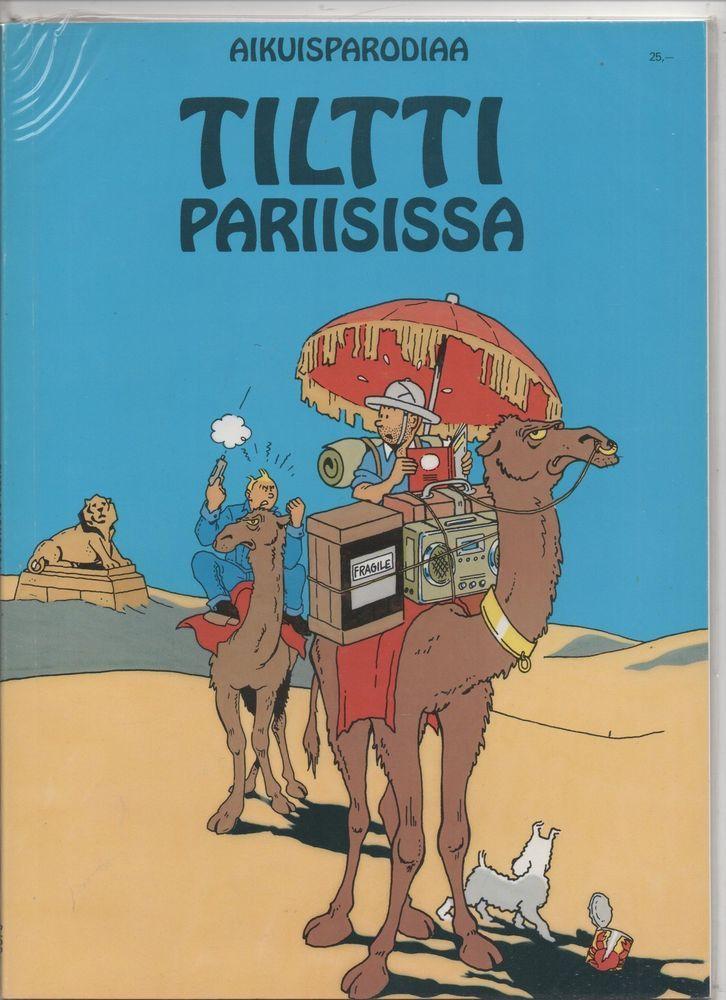 Tintin à Paris. Edition finlandaise 1992. Tilti Pariisissa. Pastiche broché