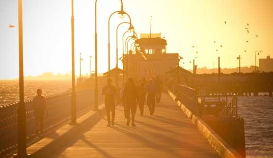 sunset, st kilda pier