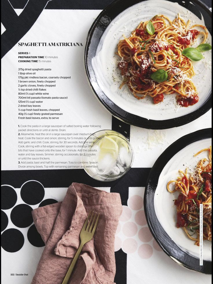Spaghetti Amatriciana - Inside Out Mag April 2017