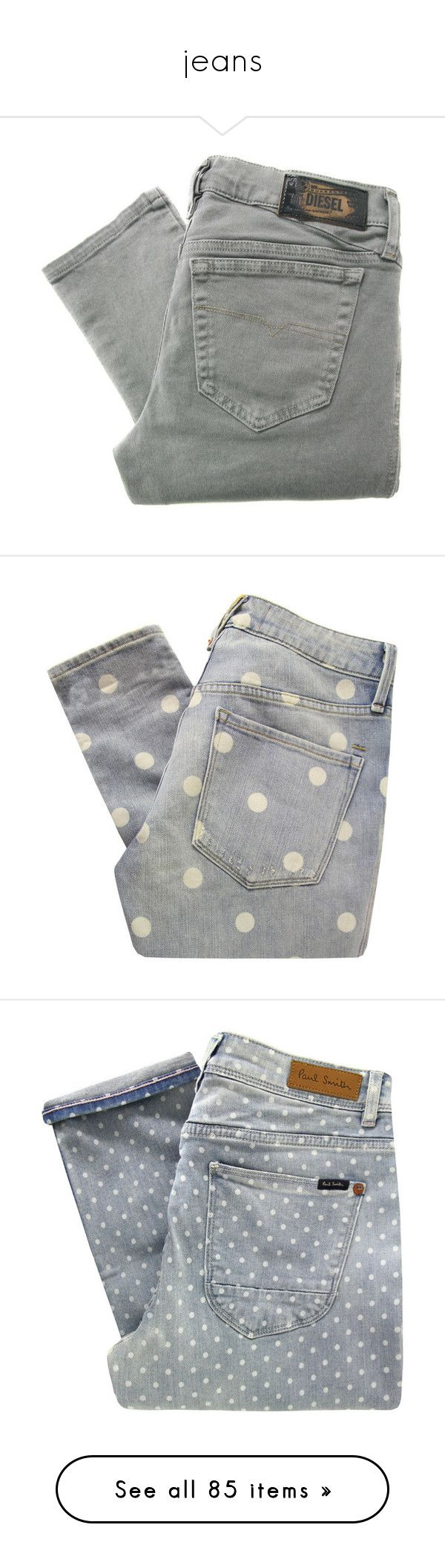 """""""jeans"""" by alenaganzhela on Polyvore featuring denim, jeans, pants, bottoms, trousers, leather skinny jeans, low rise jeans, diesel jeans, skinny fit jeans и stretchy skinny jeans"""