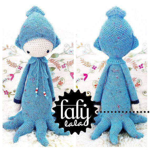 "Crochet Pattern Doll ""OLEG the octopus / squid / cuttlefish""   http://www.etsy.com/shop/lalylala"