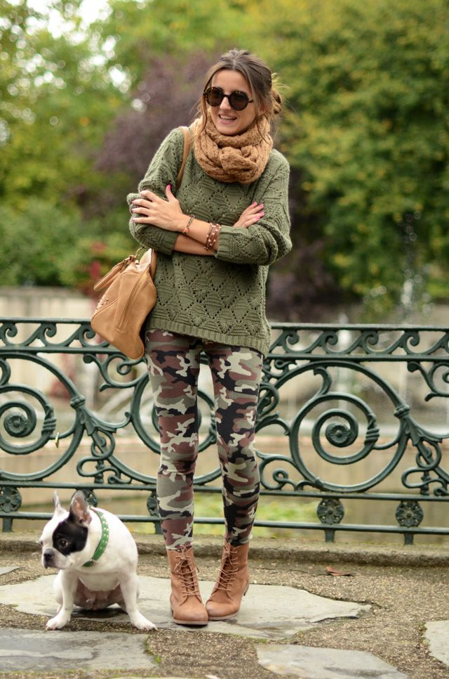» green autumn LovelyPepa: Outfit Idea, Outfit With Camo Pants, Ankle Boots, Camouflage Outfit Women, Winter Outfit, Camouflage Fashion Women, Cute Outfit, Spring Outfit, Camouflage Pants Outfit