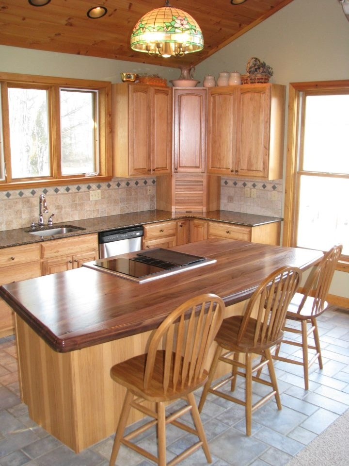 Walnut Wood Counter In Slatington, Pennsylvania. Special Features Are An  Arc, A Stove Cutout, And One Slide In Range. Manufactured By Grothouse.
