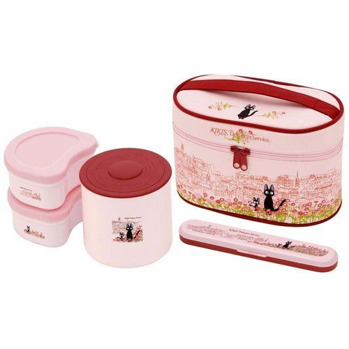 kiki's delivery service Thermal Lunch Box Fork & BAG Set Japanese BENTO
