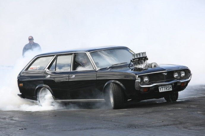 Just one of the many great burnouts you could see at Power Cruise 2012