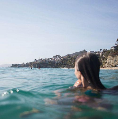 beach, girl, and lauren tallichet image