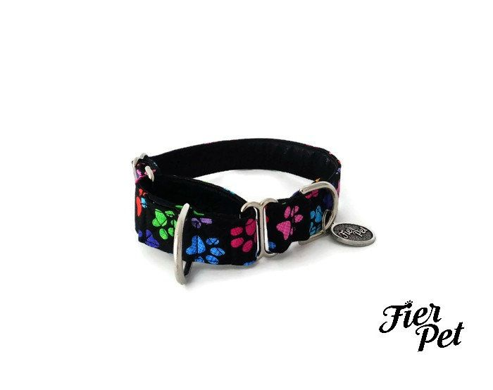 martingale collar, dog martinguale collar, whippet collar, greyhound collar by Fierpet on Etsy